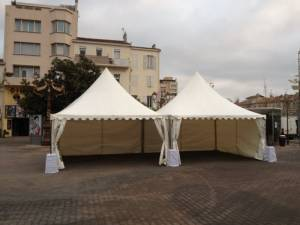 Location Tente Pagode avec Lestage