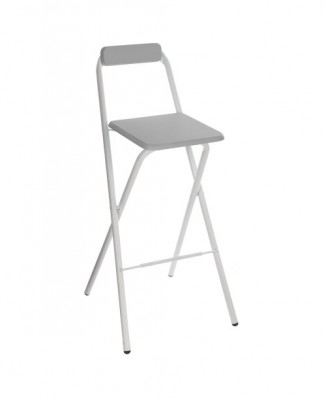 LOCATION TABOURET GRIS PLIANT
